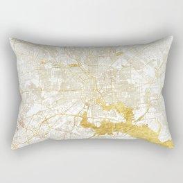 Baltimore Map Gold Rectangular Pillow
