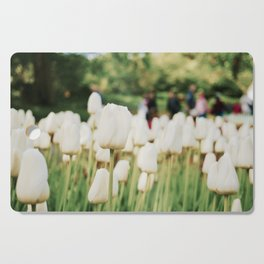 White tulips Cutting Board