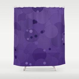 Gentian Violet Bubble Dot Color Accent Shower Curtain