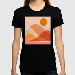 Abstraction_Mountains_Beach_Minimalism_001 T-shirt
