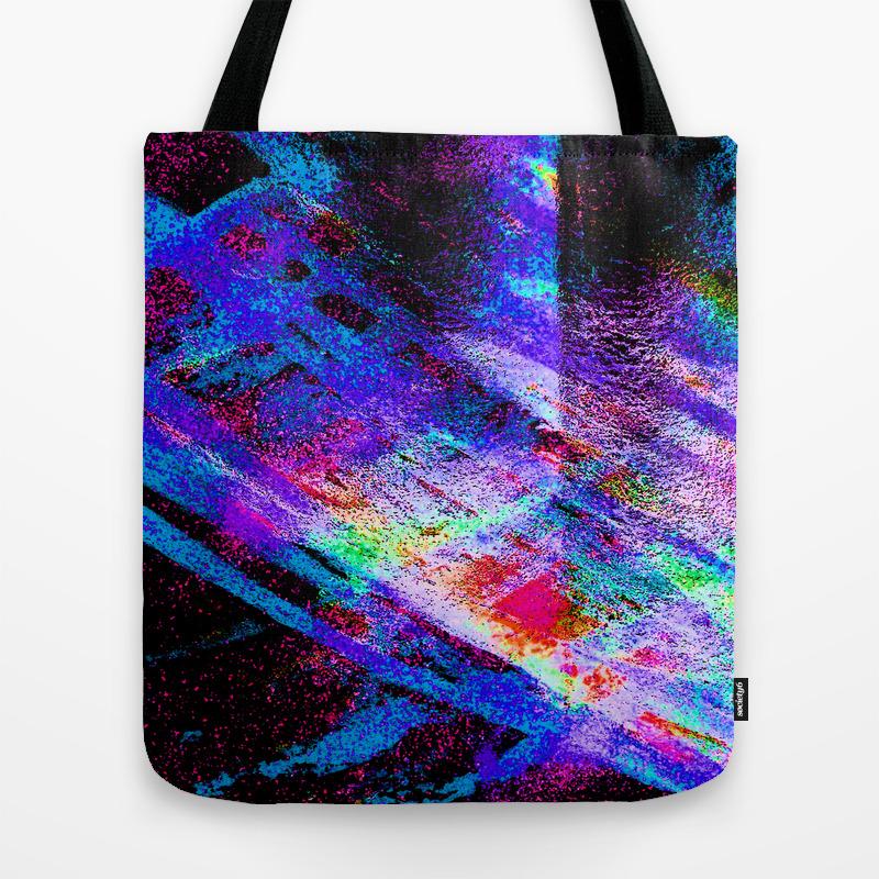 Colored Glass Tote Bag by Monapovi TBG8539837