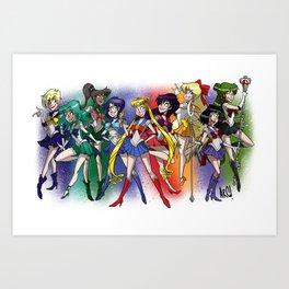 Sailor Scouts! Art Print