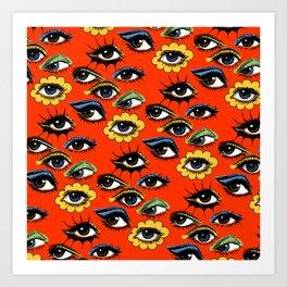 60s Eye Pattern Art Print