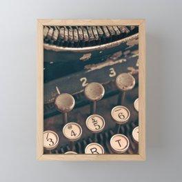 Vintage Typewriter - Macro Photography #Society6 Framed Mini Art Print