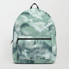 Marble Mist Green Grey Backpack