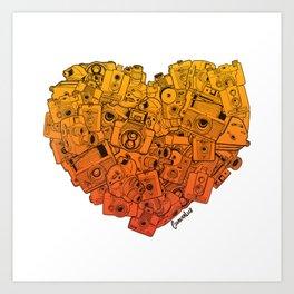 Camera Heart - gradient Art Print