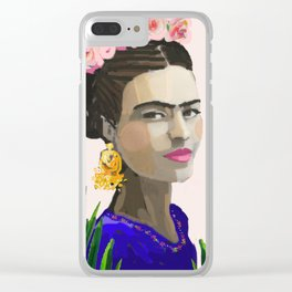 Frida in the Ferns Clear iPhone Case