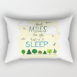 Miles To Go Rectangular Pillow