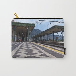 Train Station of Giardini Naxos on the Isle of Sicily - The Godfather Carry-All Pouch