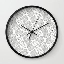 Elephant Pattern by dana alfonso Wall Clock
