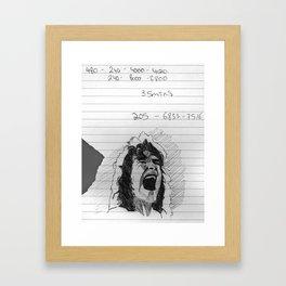 runnin' with the devil Framed Art Print