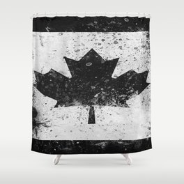 Team Canada - Painted Flag Shower Curtain