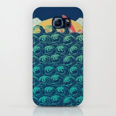 Squid on the waves Galaxy S7 Slim Case