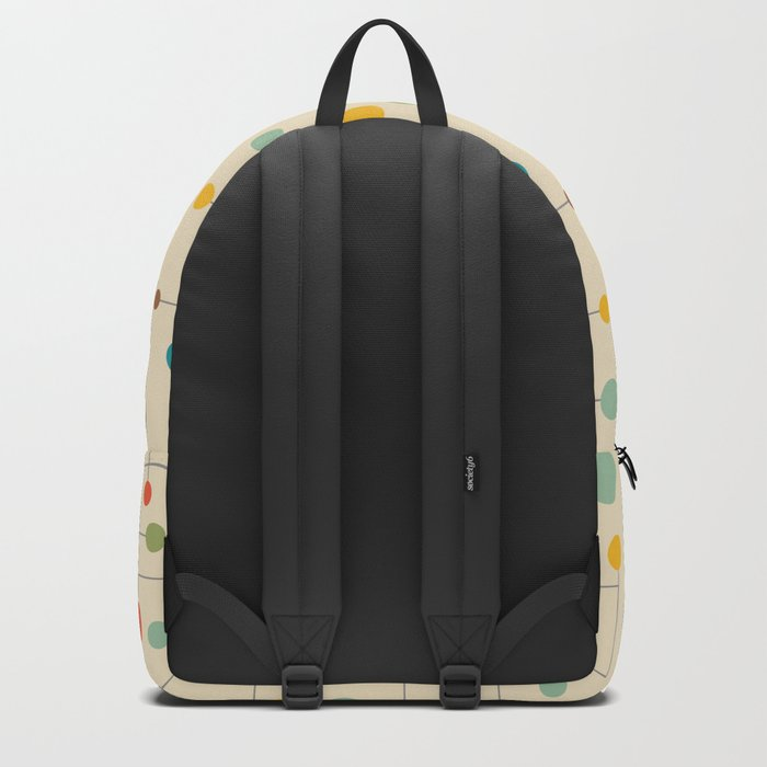 Mid-Century Dots Pattern Backpack