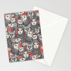 sweater mice coral Stationery Cards