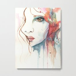 Girl ASD 01 Metal Print