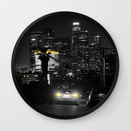 Los Angeles by Night Wall Clock