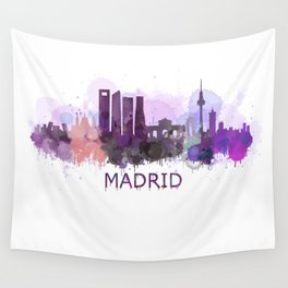 Madrid City Skyline HQ Wall Tapestry