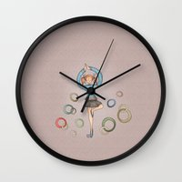 dancer Wall Clocks featuring Dancer by Catru
