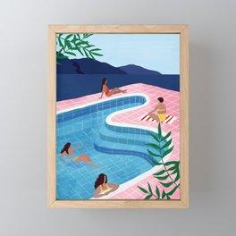 Pool ladies Framed Mini Art Print