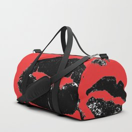 Kisses All Over (Black & Red) Duffle Bag