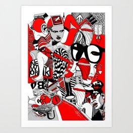 Milano_Paris_New York Art Print