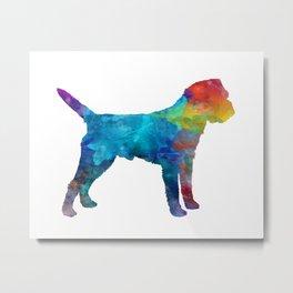 Border Terrier in watercolor Metal Print
