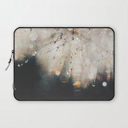 Dandelion Silver and Black rainbow sparkle Laptop Sleeve