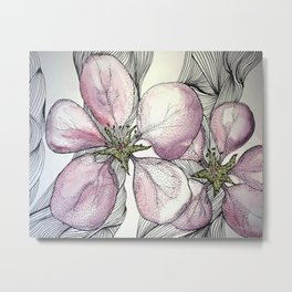 Tiger Lilly Watercolour Painting Metal Print
