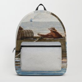 Winslow Homer1 - Three Boys In A Dory With Lobster Pots - Digital Remastered Edition Backpack
