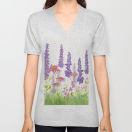 Wildflower Garden  Unisex V-Neck
