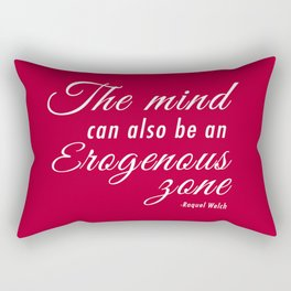 The mind can also be an erogenous zone Rectangular Pillow