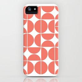 Mid Century Modern Geometric 04 Living Coral iPhone Case