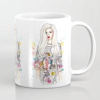 selena Mugs featuring selena illustration by sparklysky