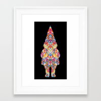 gnome Framed Art Prints featuring Gnome by dAM 11
