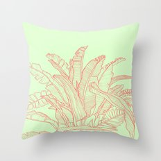 Palm Beach - pink and green Throw Pillow