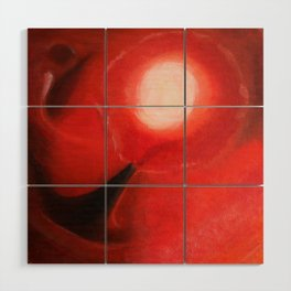 Red Dancer in the Sky Wood Wall Art