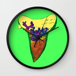 Shark Tooth Terrarium 6 Wall Clock