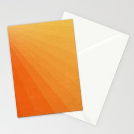 Shades of Sun - Line Gradient Pattern between Light Orange and Pale Orange Stationery Cards
