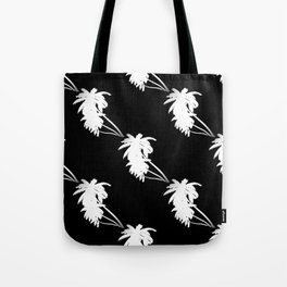 Palm Tree Pattern Black and White Tote Bag