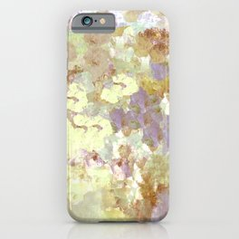 Lavender and Yellow Bouquet iPhone Case