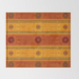 """Ethnic Pattern Warm Tones II"" Throw Blanket"