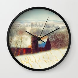 The Barn Over The Hill Wall Clock
