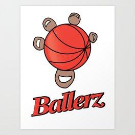 Basketball hand grip Art Print