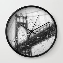 Rainy Bridge Wall Clock
