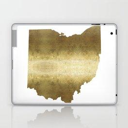 ohio gold foil state map Laptop & iPad Skin