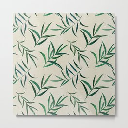 Watercolor seamless pattern on vintage paper. Metal Print