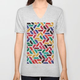 Seamless Colorful Geometric Pattern X Unisex V-Neck