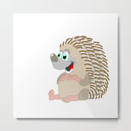 Happy Hedgehog! Metal Print