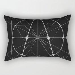 XXIst Century Anarchy Monochrome Rectangular Pillow